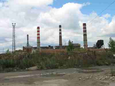 Безымянская ТЭЦ со стороны реки Самара