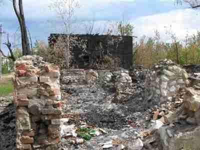 сожженный дом