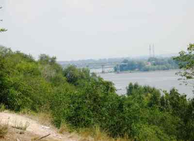 Вид на Южный мост со стороны ул. Ракитной