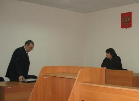 в зале суда