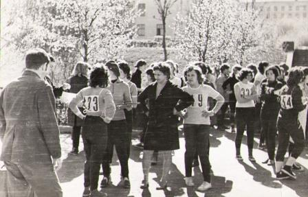 кросс в строительном институте (1970 гг.)