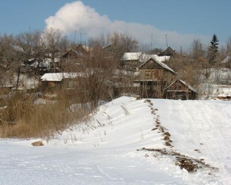 трамплин для снегохода в Запанском