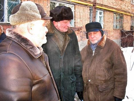 Поларшинов (справа), Кожин (в центре), Нехорошев (слева)