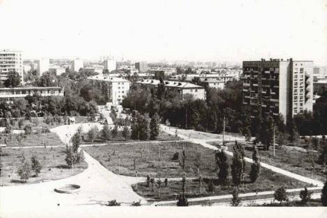 молодой парк Победы в 1970 годы