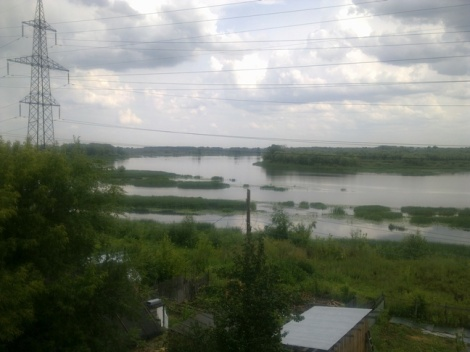 река в этих местах сверху