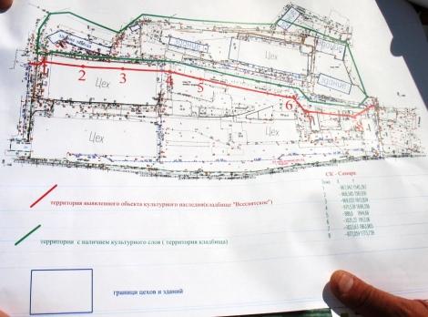 полевая карта раскопок