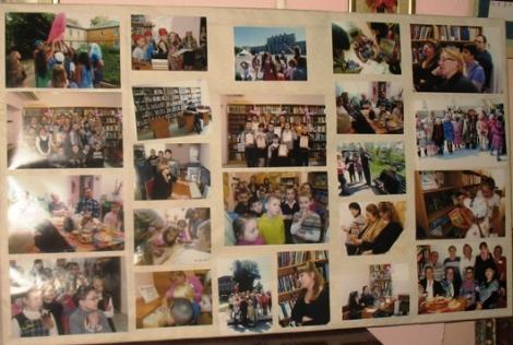на фото вся жизнь библиотеки и района