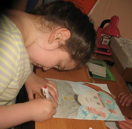 дети рисуют ту войну
