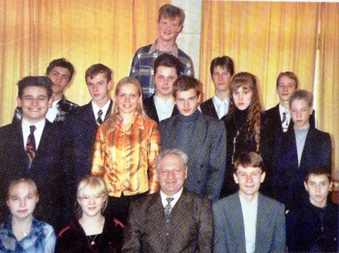 Семен Пиявский с одаренными детьми, 1990 годы