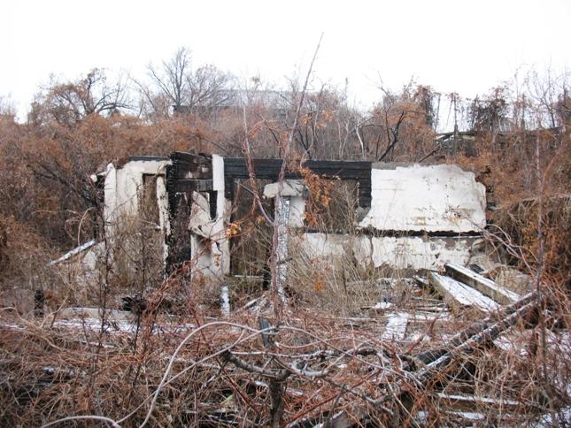 в 2012 г. здесь были руины сожженных дач