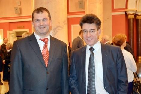 Сергей Филиппов и мой напарник по выборам в Советском районе