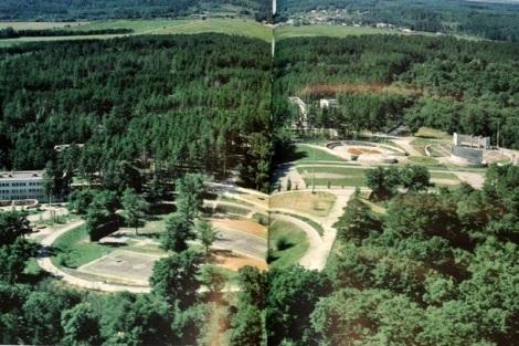вид сверху на лагерь Циолковского