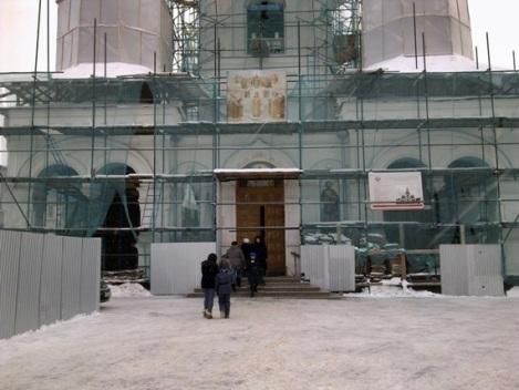 Кафедральный собор в лесах