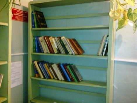а еще год назад все это было забито до упора дареной литературой и библиотекари сходили с ума, когда получали команды - утилизовать это