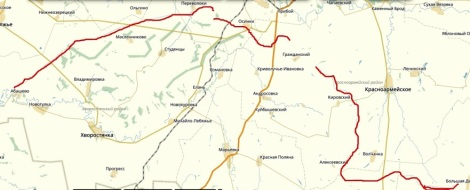 карта остатков канала