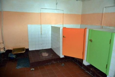 туалет школы выведен в выгребную яму