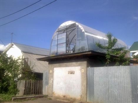 свои помидорчики и огурчики вырастут на крыше гаража