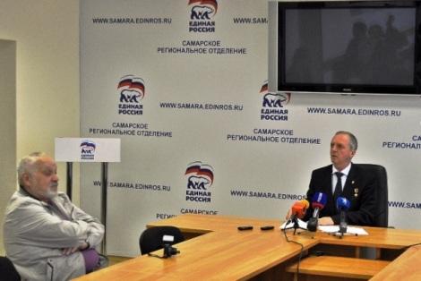 пресс-конференция Станкевича - в первом ряду Владимир Нехорошев