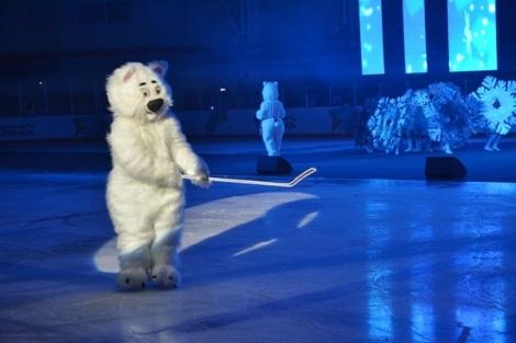 медведя играл парень с СНПЗ