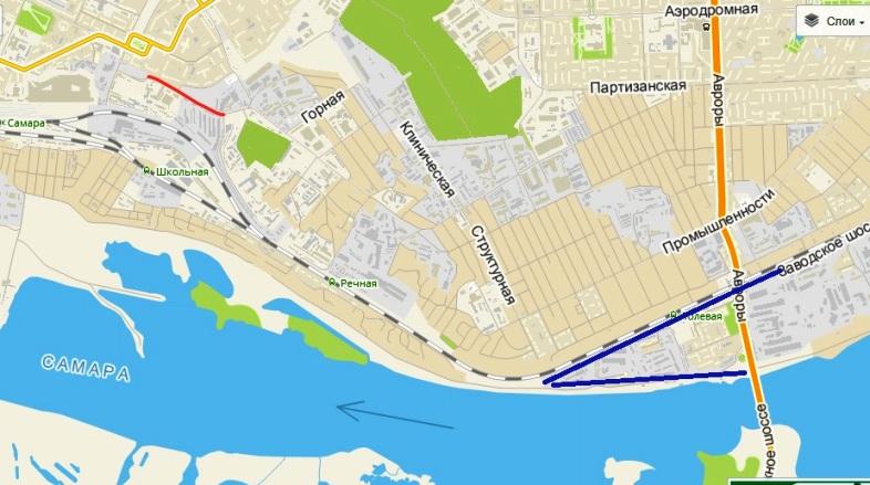 Пятигорская - отмечена красным - Толевый - синим цветом, между ними в 1950 годах могла появиться помойка